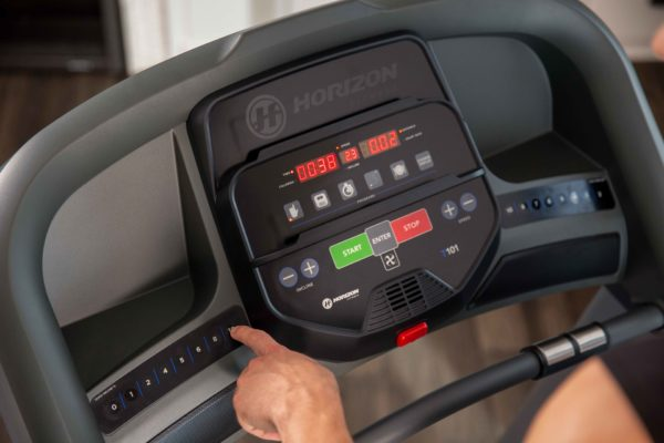 Horizon home treadmill console